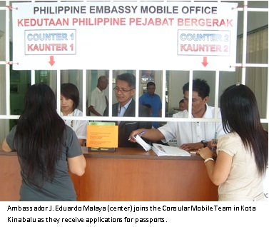 Phl Consular Mobile Passport Teams in Malaysia Conducts